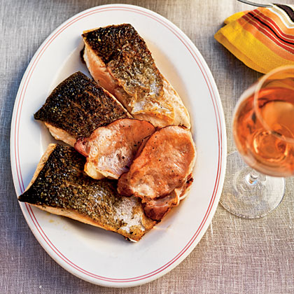 Ocean Trout with Coleslaw and Crispy Smoked Bacon
