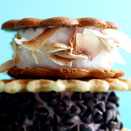 Coconut-Ginger Sorbet-Wiches