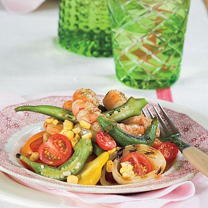 Grilled Shrimp Gumbo Salad