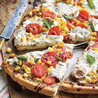 Tomato-and-Corn Pizza
