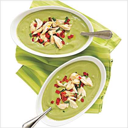 Avocado-Buttermilk Soup with Crab Salad