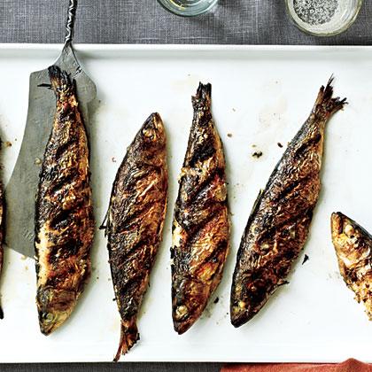 Grilled Fresh Sardines