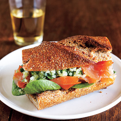 Smoked Salmon Sandwiches with Ginger Relish