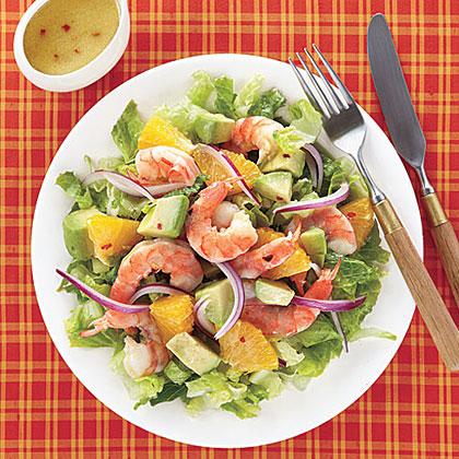 Shrimp, Avocado and Orange Salad