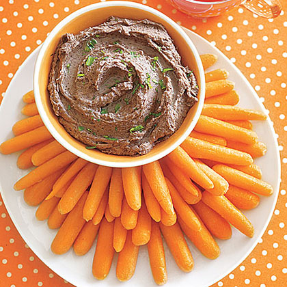 Black Bean Dip with Baby Carrots