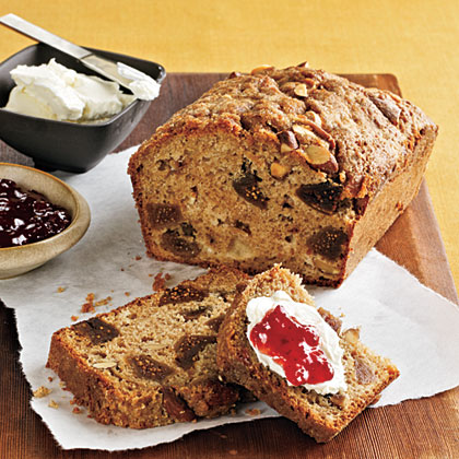 Fig, Applesauce, and Almond Breakfast Loaf