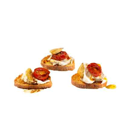 Goat Cheese and Roasted Tomato Crostini