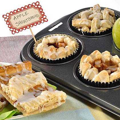 Apple Shortbread Bars and Cups