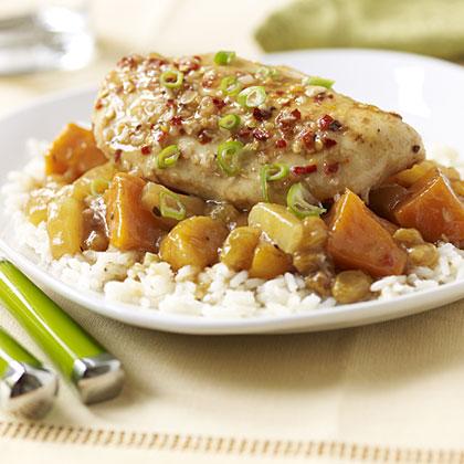 Salad Dressing Category Winner Slow Cooker Golden Sesame Ginger Chicken Dinner with Pineapple Rice