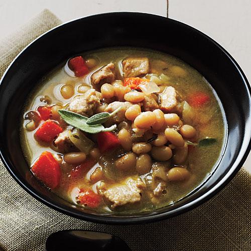 Pork and Herbed White Beans