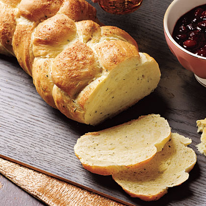 Cheese and Chive Challah