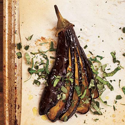 Roasted Eggplants with Herbs