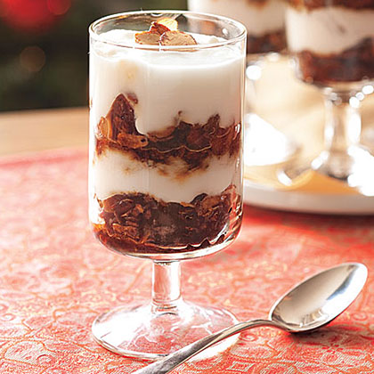 Gingerbread Granola-Yogurt Parfaits