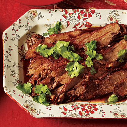 Beer-Braised Brisket with Honey-Lime Glaze