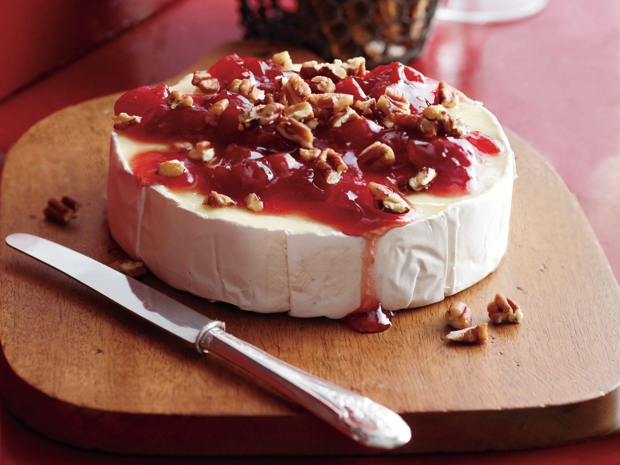 Cherry-Pecan Brie
