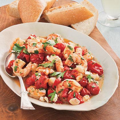 Roasted Tomato-and-Feta Shrimp