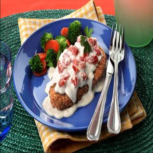 Chicken Parmesean Alfredo