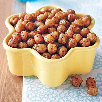 Spicy Crunchy Chickpeas