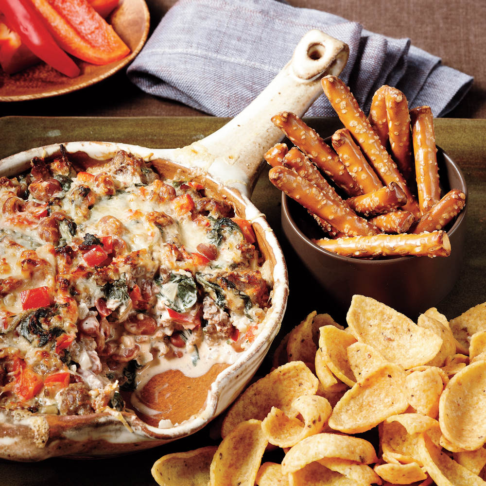 Sausage, Bean, and Spinach Dip