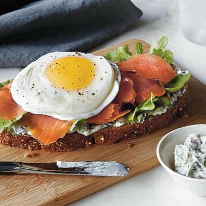 Smoked Salmon and Egg Sandwich