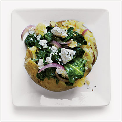 Spinach Baked Potato