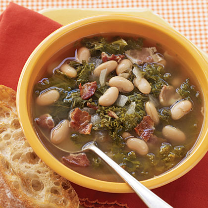 Greens, Beans, and Bacon Soup