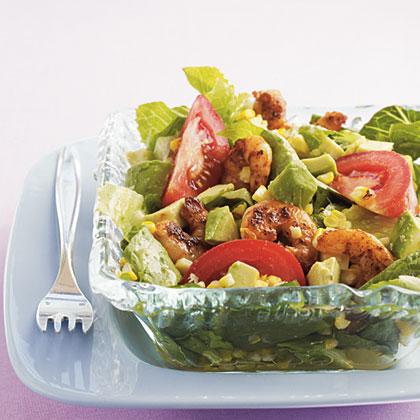 Grilled Southwestern Shrimp Salad with Lime-Cumin Dressing