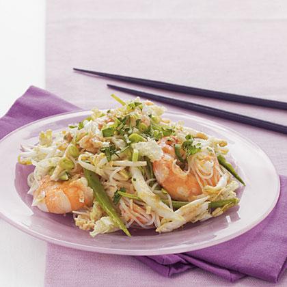 Shrimp and Noodle Salad with Asian Vinaigrette Dressing
