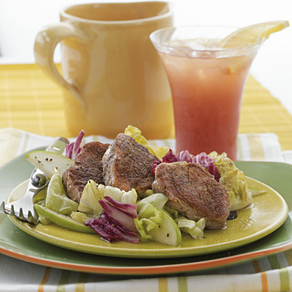 Warm Pork Salad with Apples