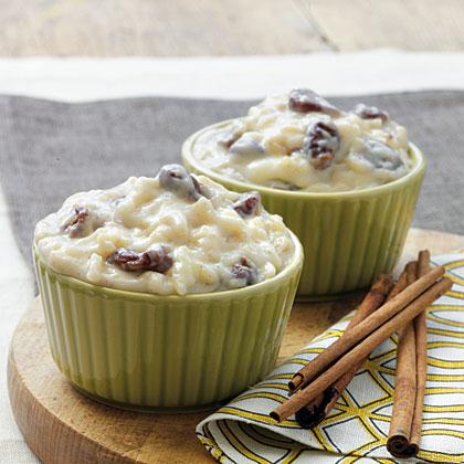White Chocolate-Cherry Rice Pudding