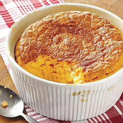 Puffed Cheddar-Rice Casserole