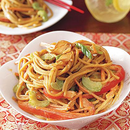 Cold Sesame Noodles with Golden Garlic