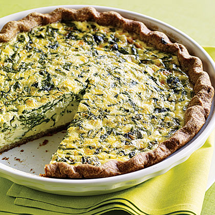 Fava Leaf and Parsley Quiche