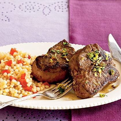 Lamb Chops with Pistachio Gremolata