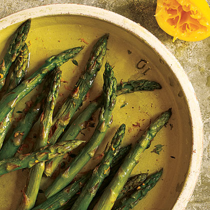 Roasted Asparagus with Browned Butter