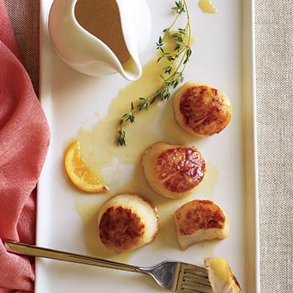 Seared Scallops with Meyer Lemon Beurre Blanc
