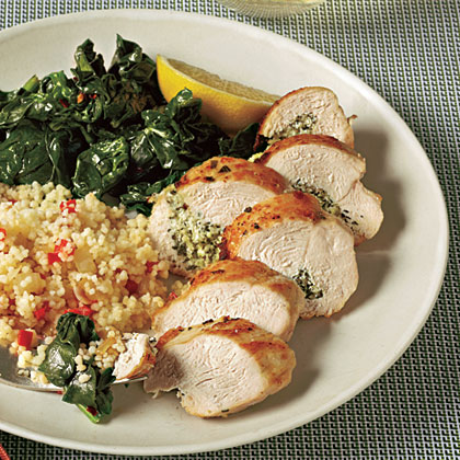 Herb and Goat Cheese-Stuffed Chicken Breasts