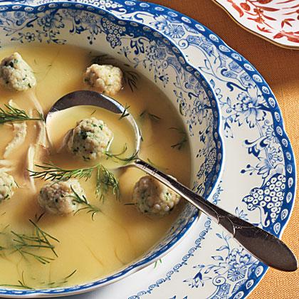 Lemon Chicken Soup with Dumplings