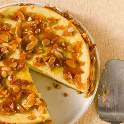 Amaretto Cheesecake with Almond Brittle