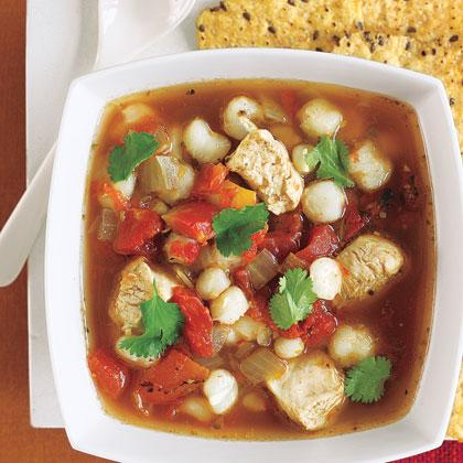 Hearty Chicken Posole Stew