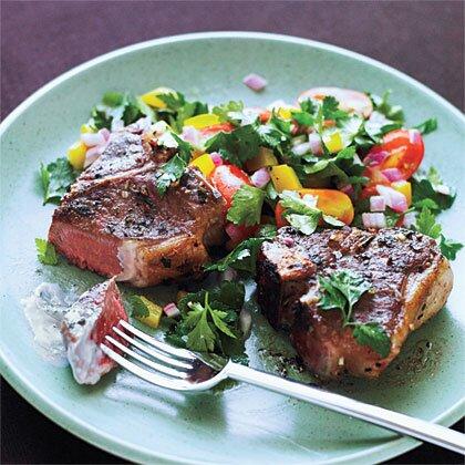lamb chops with mint yogurt recipe Greek Lamb Chops and Mint Yogurt Sauce