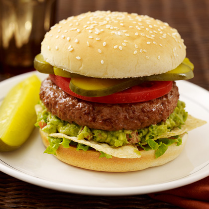 Zesty Garlic Guacamole Burger