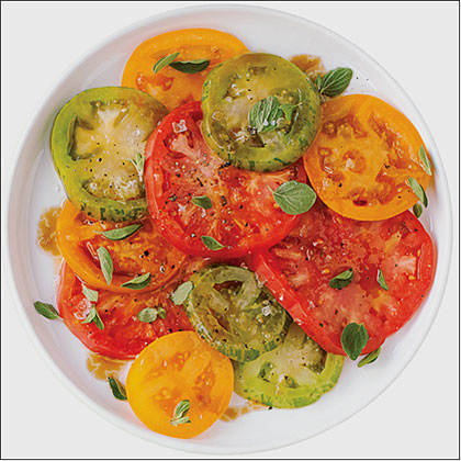 Heirloom Tomato Salad with Pomegranate Drizzle