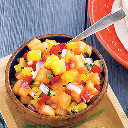 Melon-Pineapple Salsa