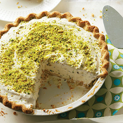 Pistachio-Cardamom Ice Cream Pie