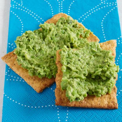 Mint-and-Pea Hummus on Flatbread