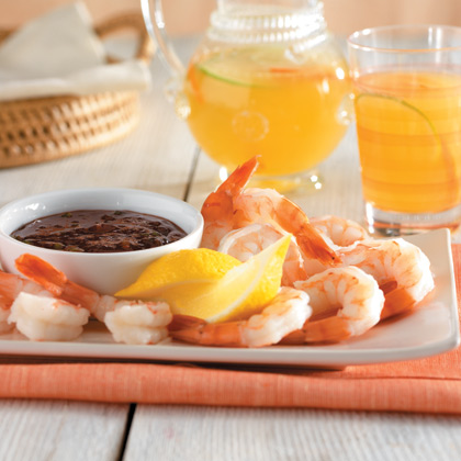 Raspberry Cocktail Sauce with Chilled Shrimp
