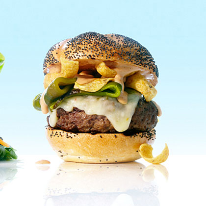 New Mexico Green Chile and Frito Burgers