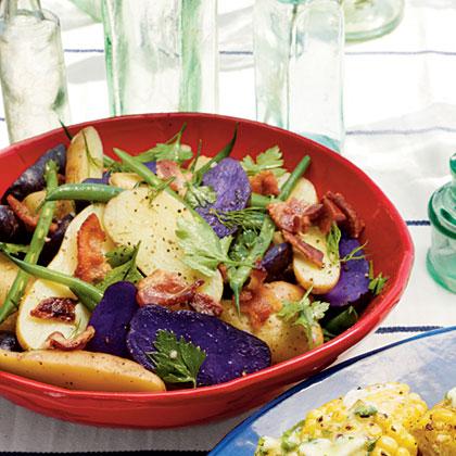 Hot Bacon Potato Salad with Green Beans
