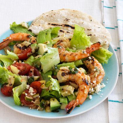 Chopped Taco Salad With Shrimp